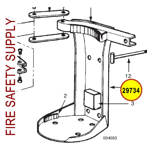 Ansul 29734 Red Line Back Frame Assembly