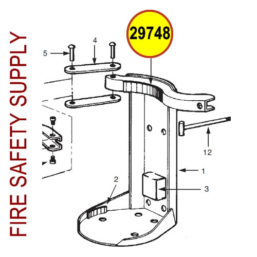 Ansul 29748 Red Line Pad, Clamp Arm