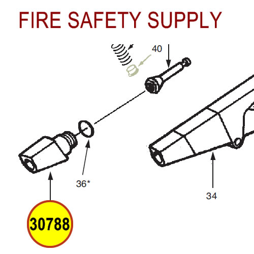 Ansul 30788 Red Line Nozzle Tip Assembly