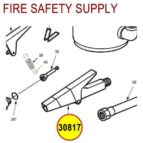 Ansul 30817 Red Line Nozzle Assembly