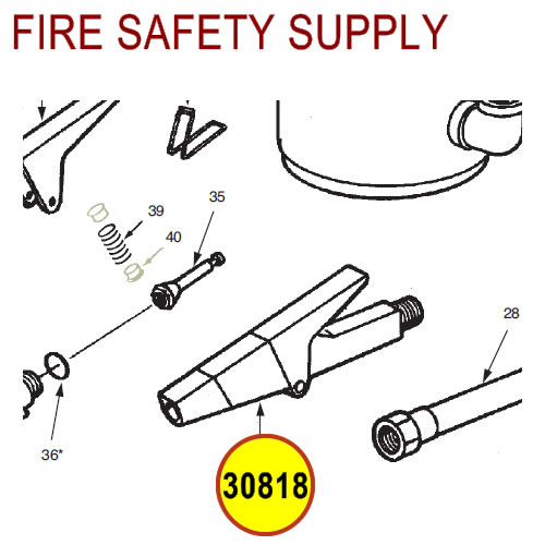 Ansul 30818 Red Line Nozzle Assembly