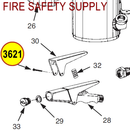 Ansul 3621 Red Line Rivet, Nozzle Assembly