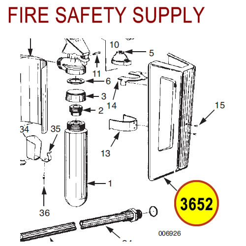 Ansul 3652 Red Line Cartridge Guard Assembly