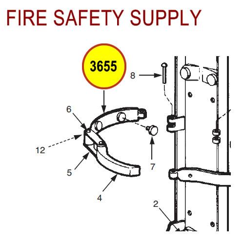 Ansul 3655 Red line Cartridge Guard Guide