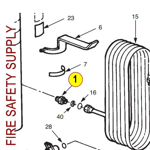 Ansul 3902 Adaptor, Tank Outlet to Hose