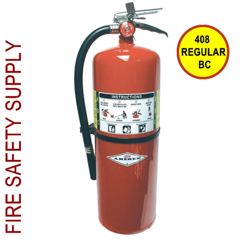 Amerex 408 Regular BC Dry Chemical Extinguishers (Brass,Chrome Plated) - 20 Lb