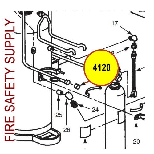Ansul 4120 Blow-Off Cap Size 1 and 2 Nozzle, Plastic