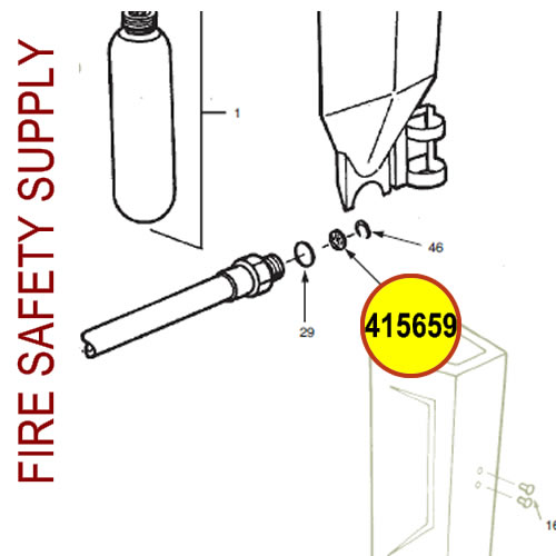 Ansul 415659 RED LINE 10 lb. Extinguisher Hose Inspection Seal