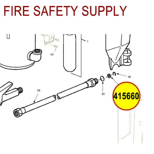 Ansul 415660 RED LINE 20 lb. Extinguisher Hose Inspection Seal