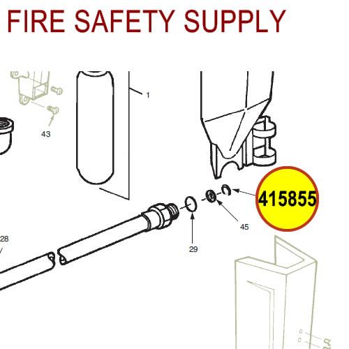 Ansul 415855 RED LINE 10 lb. Extinguisher Hose Retaining Ring