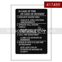 417459 Fire Emergency Nameplate