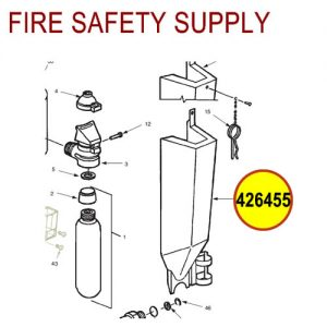 Ansul 426455 RED LINE Metal Guard Assembly without Ring Pin (30-G)