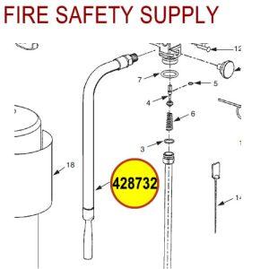 428732 Ansul Sentry Hose & Nozzle Assembly