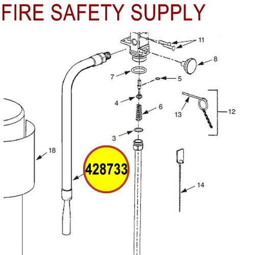 428733 Ansul Sentry Hose & Nozzle Assembly