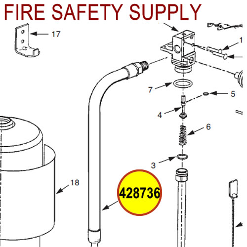 428736 Ansul Sentry Hose & Nozzle Assembly