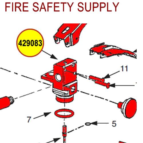 429083 Ansul Sentry Dry Chemical Valve Assembly
