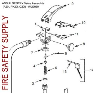 429089 Ansul Sentry Valve Assembly