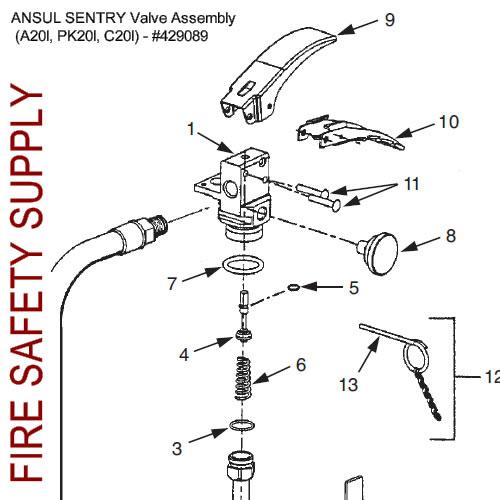 429089 Ansul Sentry Valve Assembly