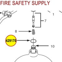 429170 Ansul Sentry Valve to Cylinder O-Ring