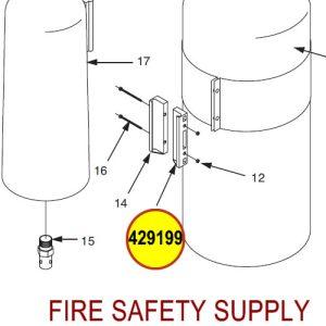 429199 Ansul Sentry Right Clamp