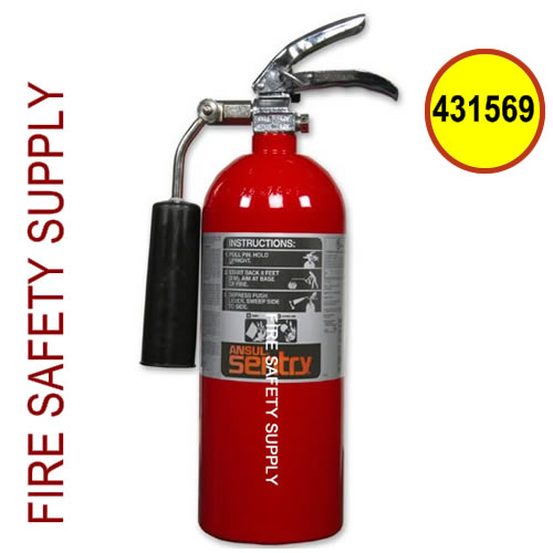431569 Ansul Sentry 5 lb Steel Carbon Dioxide Extinguisher (CD05-1) (UL/ULC Rating: 5-B:C)