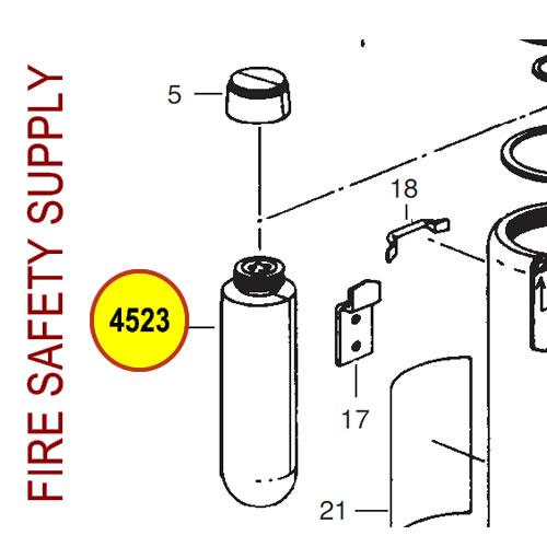 Ansul 4523 Red Line Cartridge, Carbon Dioxide 5 lb.