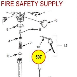 Ansul 507 CLEANGUARD 5 in. Ring Pin Chain (Ring Pin/Chain Assembly)