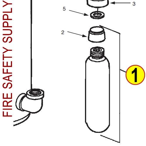 Ansul 5373 RED LINE Nitrogen Cartridge (LT-30-R)
