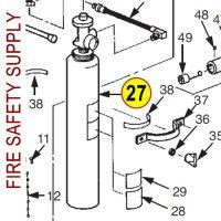 Ansul 54694 Cylinder, Nitrogen 23-B, CR