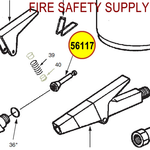 Ansul 56117 Red Line Plunger Assembly