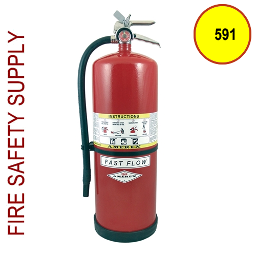 Amerex 591 30 lb. High Performance Dry Chemical Extinguisher