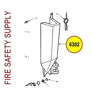 Ansul 6302 Red Line Cartridge Guard Assembly