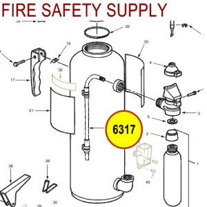Ansul 6317 Red Line Gas Tube Assembly