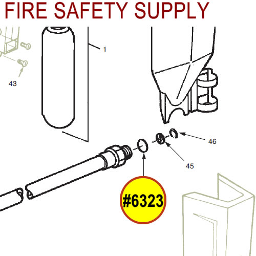Ansul 6323 Red Line Hose Assembly, O-Ring