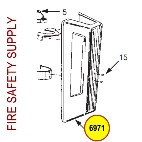 Ansul 6971 Red Line Cartridge Guard Assembly