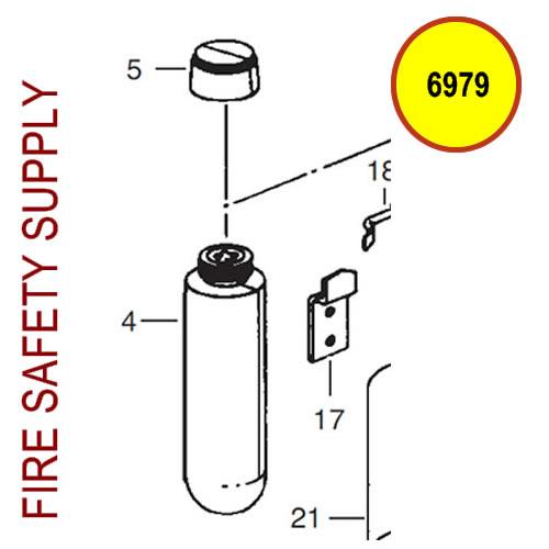 Ansul 6979 RED Line Nitrogen Cartridge (LT-5-R)