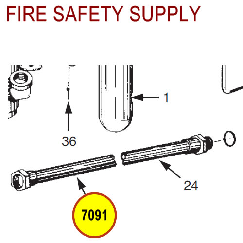 Ansul 7091 Red Line 65°F Hose Assembly with Couplings