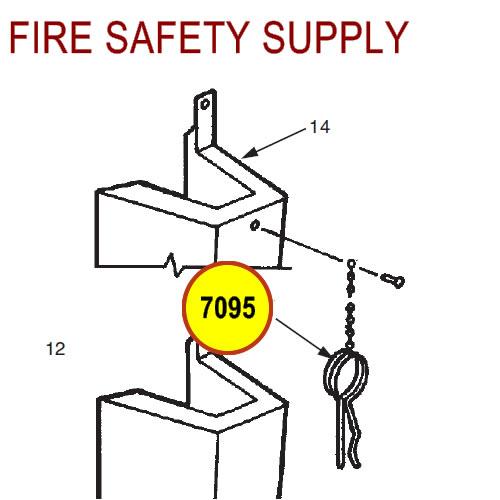 Ansul 7095 Red Line Ring Mini-Bulk Control Box Pin/Chain Assembly