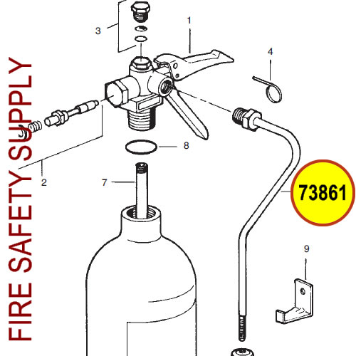 73861 Ansul Sentry Swivel & Tube Assembly