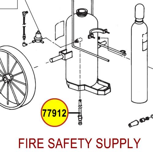 Ansul 77912 Gas Tube, 350-C