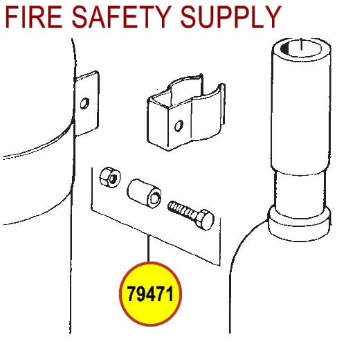 Ansul 79471 Nozzle Retainer Hardware Package