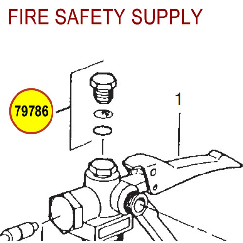 79786 Ansul Sentry Safety Plug Assembly with Disc/Washer