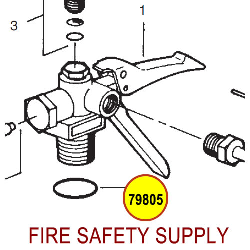 79805 Ansul Sentry Valve to Cylinder O-Ring