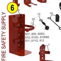 "Amerex 812 6"" Cylinder Diameter Heavy Duty Vehicle Bracket Black"