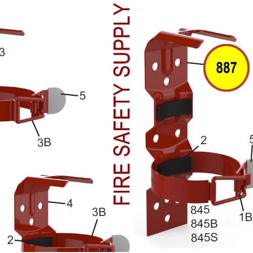 Amerex 887 10 lb. Vehicle/Marine Bracket Red