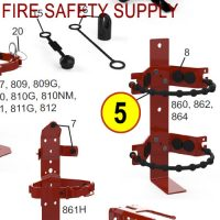 Amerex 864 Heavy Duty Rubber Strap Bracket Red