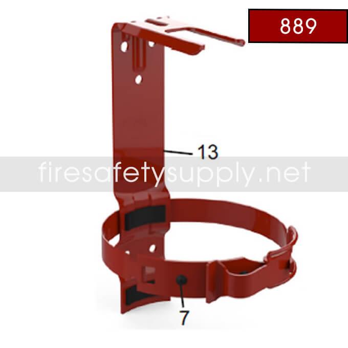 889 Amerex Heavy Duty Galvanized Bracket