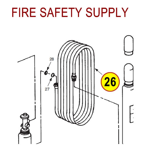 Ansul 960 Hose Assembly, 3/4 in. x 50 ft.