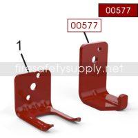 Amerex 00577 EH20 Bracket Wall 803 20 Carbon Dioxide Red