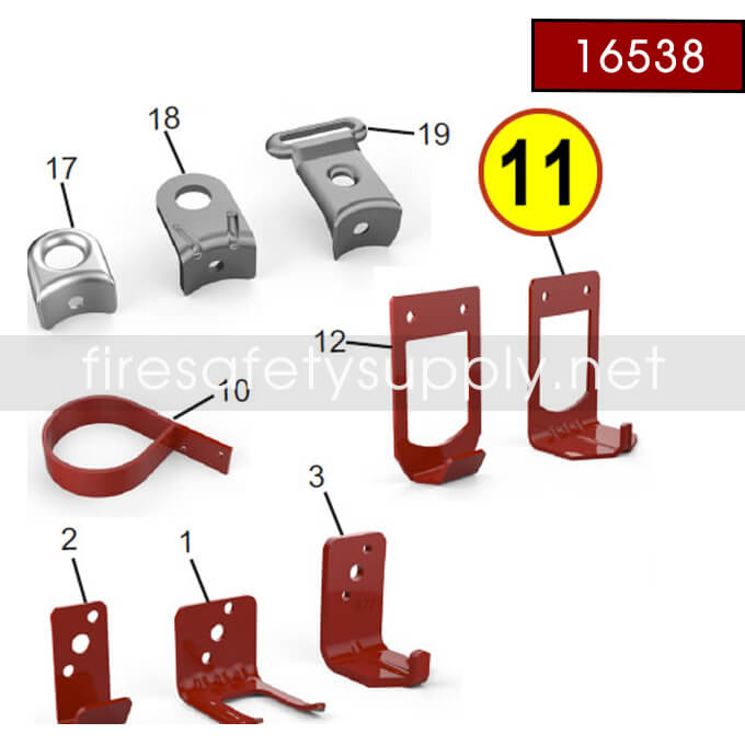 Amerex 16538 Bracket Cart Adapter High Performance 30 Red